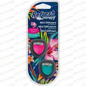 Ароматизатор в дефлектор Refresh Your Car Psychedelic Flower / Neon Jungle (Цветы и фрукты), жидкий, клипса, арт. E301410200
