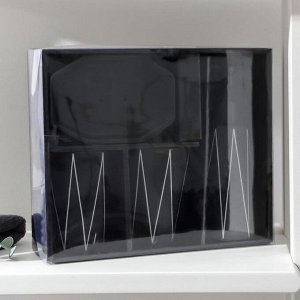 Набор для ванной комнаты «Локо», 4 предмета (дозатор для мыла 280 мл, мыльница, 2 стакана 250 мл), цвет чёрный