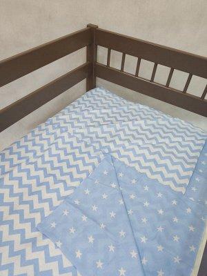 КПБ 3 предм. комплект постельного белья в кроватку Спящие совята 120*60 гол.
