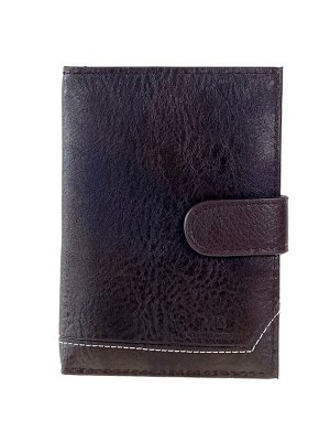 Обложка для автодокументов и паспорта из экокожи, цвет коричневый