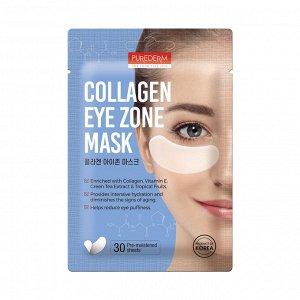 Набор патчей под глаза с коллагеном Purederm Collagen Eye Zone Mask, 30 шт (15 пар, 25 г)