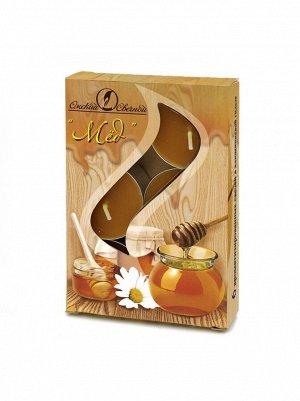 Свеча чайная 12 гр х 6 шт  Мед ароматизированная