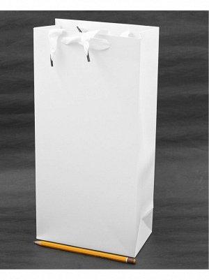 Пакет ламинированный однотонный 17 х 35 х 9 см цвет белый HS-8-14