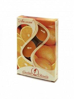 Свеча чайная 12 гр х 6 шт Апельсин ароматизированная