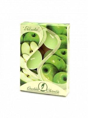 Свеча чайная 12 гр х 6 шт Яблоко ароматизированная