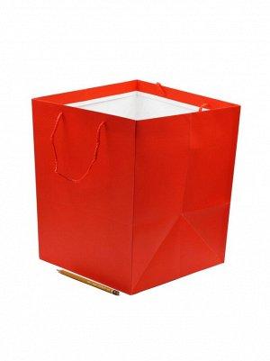 Пакет ламинированный Однотонный 27 х 34 х 7 см цвет белый HS 56-5