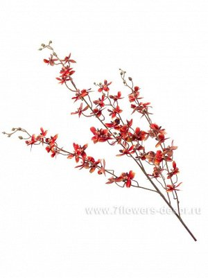Дендробиум 112 см цветок искусственный цвет оранжевый ткань Арт.424385