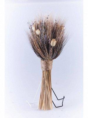 Букет из сухоцветов пшеница лаванда нигелла 17 х 14;5 х 50 см Арт hk47216 в асс