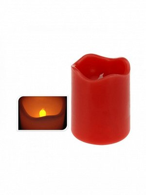 Свечи с LED огнем Н9 см цвет красный АСА 200120