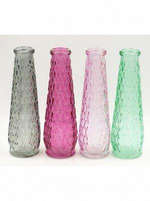 Ваза стекло Бутылка Рейчел D4/6.5 х H 22 см цвет в ассортименте