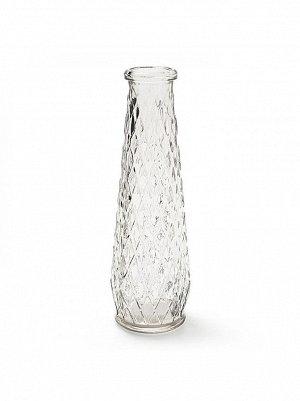 Ваза стекло Бутылка Рейчел D4/6.5 х H 22 см цвет прозрачный