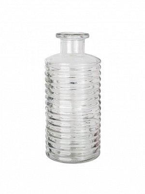 Ваза стекло Бутылка Сью D9;5 х H21;5 см цвет прозрачный
