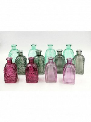 Ваза Бутылка Фрида D6;5 х H13;5 см стекло цвет в ассортименте