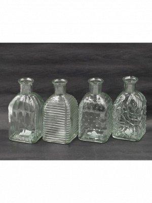 Ваза стекло Бутылка Фрида Н13;5 см цвет прозрачный