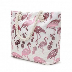 Пляжная сумка с блестящим принтом (Якорь)