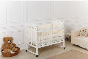 Кроватка Incanto Sofi, колесо-качалка, цвет белый