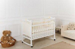 Кроватка Incanto Pali, колесо-качалка, цвет белый