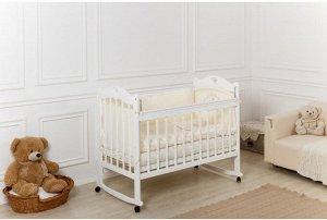 Кроватка Incanto Sofi, колесо-качалка, а/ст,  цвет белый