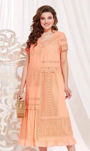 Платье Vittoria Queen 13873 персиковый