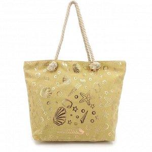 Пляжная сумка с блестящим принтом (Ракушки)