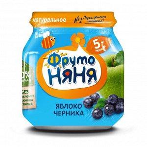 ФРУТОНЯНЯ Пюре 100г яблоко-черника