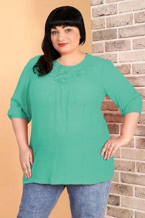 Зеленый Примечание: замеры длин соответствуют размеру 52. Длина Блузы: 71 см. Длина рукава: 43 см. Подкладка: нет. Застёжка: нет. Декор: стразы. Состав: хлопок 65%, спандекс 35%. Подходит для беременн