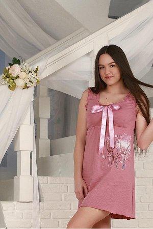 """Сорочка """"Rabbity""""  сухая роза"""