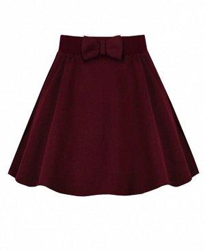 Бордовая школьная юбка для девочки Цвет: бордовый