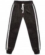 Велюровые спортивные брюки для девочки Цвет: серый