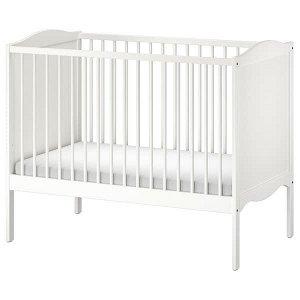 SMÅGÖRA СМОГЁРА Кроватка детская, белый60x120 см