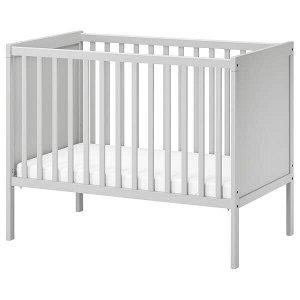 SUNDVIK СУНДВИК Кроватка детская, серый60x120 см