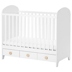 GONATT ГУНАТ Кроватка детская, белый60x120 см