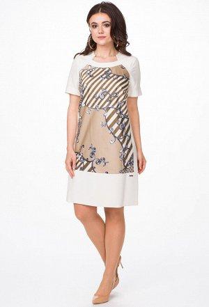 Платье Melissena 732 бежевый