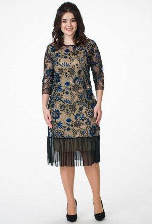 Платье Melissena 853 бежевый