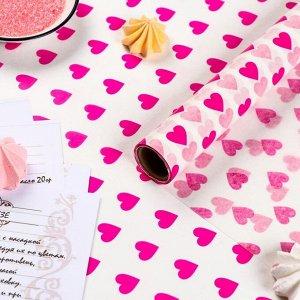 Бумага силиконизированная «Сердце», 0,38 х 5 м 6956806