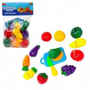 Игровой набор ABtoys Помогаю маме Продукты для резки на липучках (фрукты и овощи), 24 предмета, в пакете
