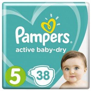 PAMPERS Подгузники Active Baby-Dry Junior (11-16кг) Экономичная Упаковка Минус 38