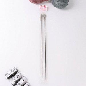 Спицы для вязания, прямые, d = 4,5 мм, 35 см, 2 шт
