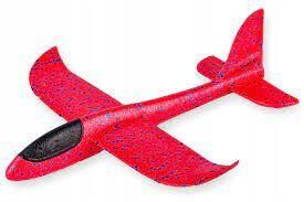 Самолет из пенопласта 45 см, красный