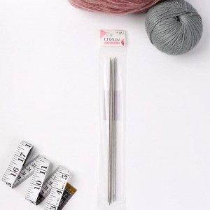 Спицы для вязания, чулочные, d = 2 мм, 24 см, 5 шт