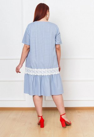 Платье 0091-9 голубой