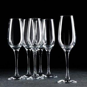 Набор бокалов для шампонского Amber, 200 мл, 6 шт
