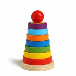Детская развивающая пирамидка «Разные фигуры» 9,5*9,5*15,5 см