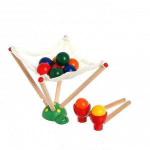 Деревянная игрушка «Вылови шарик», 7,5 * 9,5 * 16,5 см