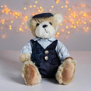 Мягкая игрушка «Медведь в кепке», цвета МИКС