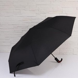 Зонт полуавтоматический «Style», 3 сложения, 8 спиц, R = 50 см, цвет чёрный 5572914