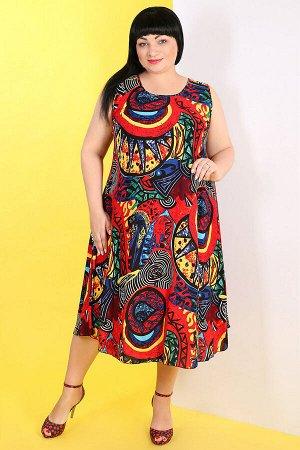 Красный Внимание: универсальный размер 52-56. Длина платья: 124 см. Длина рукава: нет. Подкладка: нет. Застежка: нет. Карманы: нет. Декор: нет. Состав: эластик 95%, спандекс 5%. Подходит для беременны
