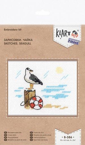 Набор для вышивания Зарисовки. Чайка 10*8,5см