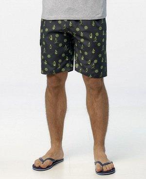 Шорты Мужские пляжные шорты, выполнены из легкой быстросохнущей ткани, имеют удобные передние карманы, боковой карман с клапаном на липучке, широкий эластичный пояс с фиксирующим шнурком. Удлиненный ф