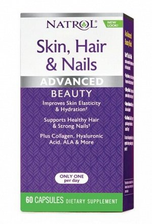 Комплекс витаминов для кожи, волос и ногтей Skin, Hair & Nails Natrol 60 капс.